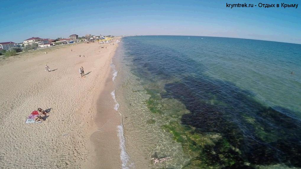 Береговое, песчаный пляж