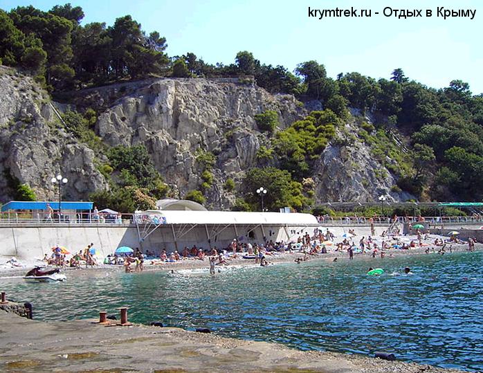 Гаспра, пляж