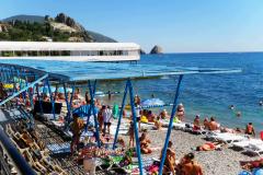 Гурзуф, пляж