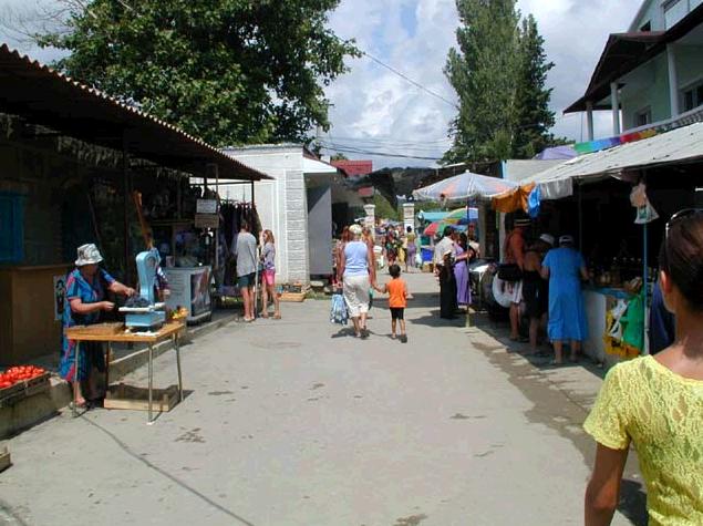 Поселок Морское, рынок
