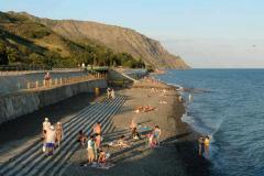 Пляж поселка Морское