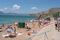 Пляж посёлка Орджоникидзе
