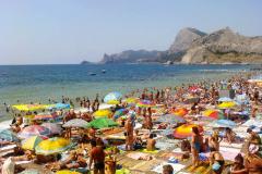 Судак, центральный пляж