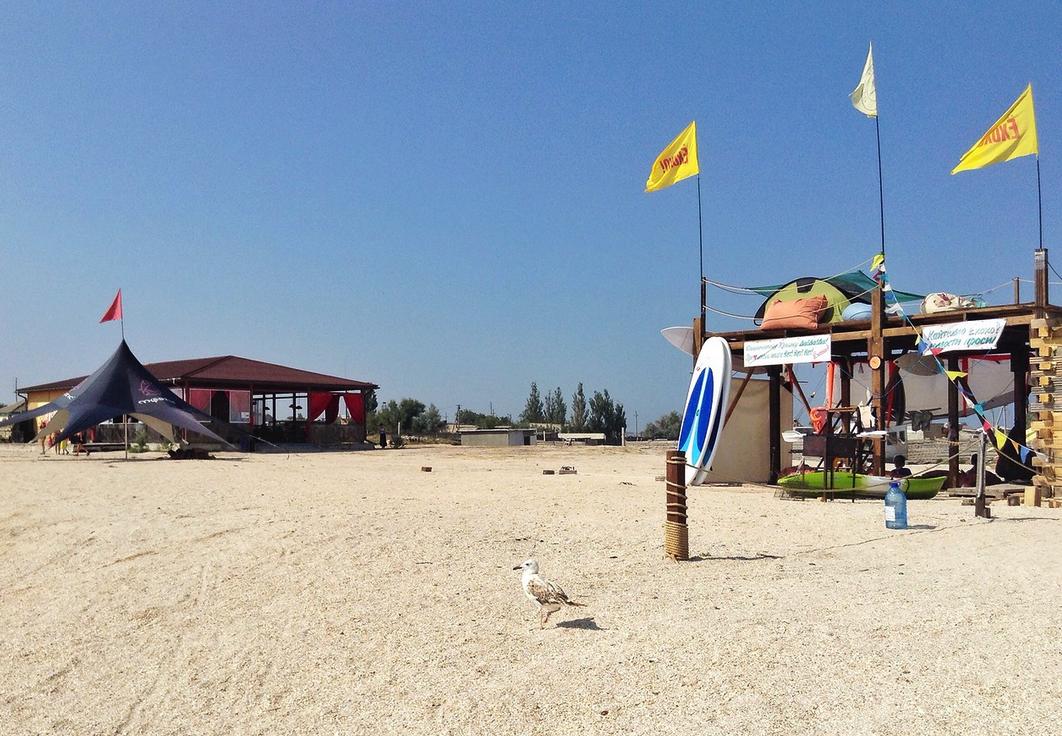 Пляжи Крыма песочные - Пляж Казантип