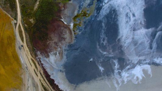 Крым 4K: Чокракское грязевое озеро у Курортного на Азовском побережье (часть 2)