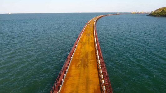 Крымский мост 4K (часть 2): стапели и мост РМ-3 на бреющем полёте