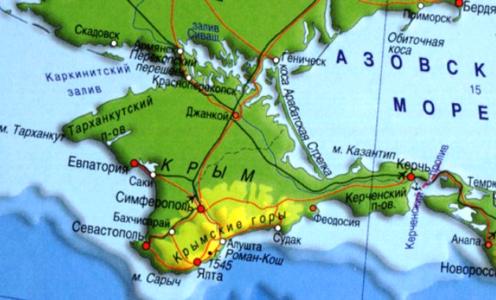 Площадь Крыма. Километры дорог…
