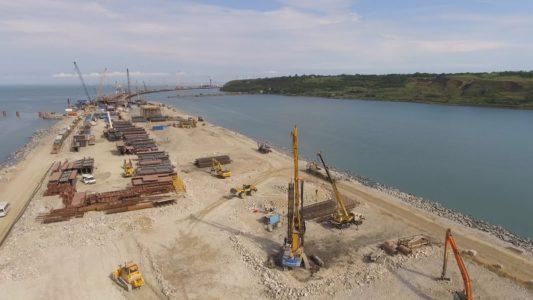 Крымский мост: Работы на искусственном моле, ТП «Керчь»