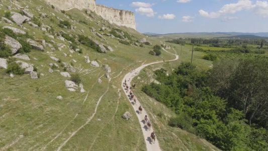 Крымъ 4K: Конная прогулка у Бѣлой скалы